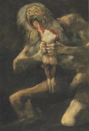 Une représentation de Saturne de Francisco de Goya