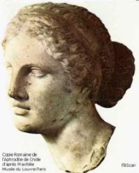 La façon d'aimer, illustrée par l'Aphrodite de Cnide par Praxitèle, au musée du Louvre
