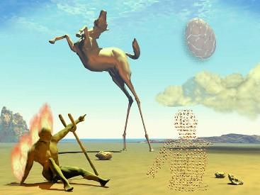 Pour Salvadore DALI, né le 11/05/1904 08h40 à Figueras Espagne, le beau trigone Uranus Vénus mixé au carré Uranus Lune exprime un besoin d'esthétisme absolu contenant une révolte extrême, paroxystique; son oeuvre tient à la fois du génie, de la provocation et de l'avant-garde : les caractéristiques d'Uranus.