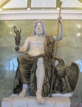 Une représentation de Jupiter en marbre, datant de 100 avant J.-C., auteur : Sailko