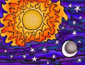 A tout seigneur, tout honneur : les aspects Soleil Lune, et tout particulièrement la conjonction, d'une importance capitale, sont des éléments déterminants dans la synastrie : le principe masculin rencontre le principe féminin, c'est la compatibilité fondamentale et la plus profonde.